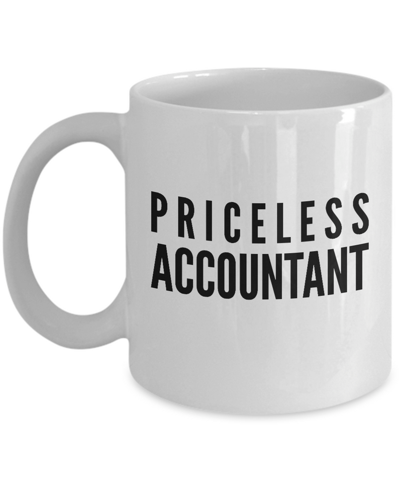 Priceless Accountant - Birthday Retirement or Thank you Gift Idea -   11oz Coffee Mug - Ribbon Canyon