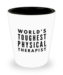 Friend Leaving Novelty Short Glass for Physical Therapist