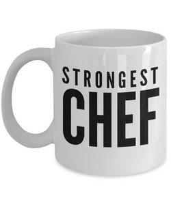 Strongest Chef - Birthday Retirement or Thank you Gift Idea -   11oz Coffee Mug - Ribbon Canyon