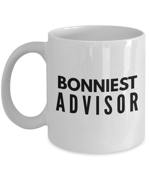 Bonniest Advisor - Birthday Retirement or Thank you Gift Idea -   11oz Coffee Mug - Ribbon Canyon