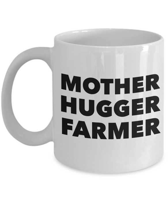 Mother Hugger Farmer, 11oz Coffee Mug  Dad Mom Inspired Gift - Ribbon Canyon