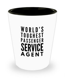 Friend Leaving Novelty Short Glass for Passenger Service Agent