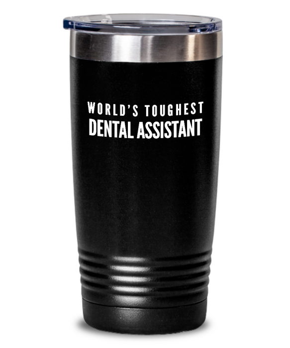 Dental Assistant - Novelty Gift White Print 20oz. Stainless Tumblers - Ribbon Canyon