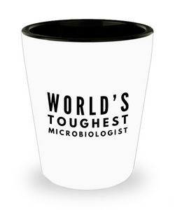 Friend Leaving Novelty Short Glass for Microbiologist