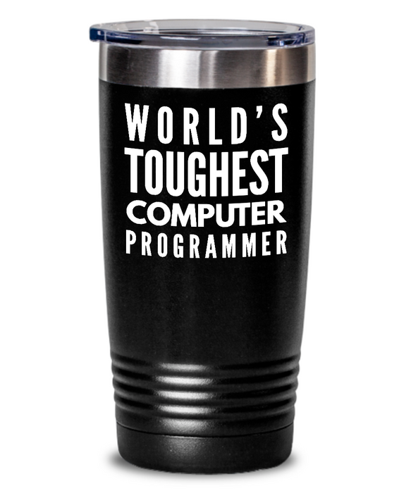 Computer Programmer - Novelty Gift White Print 20oz. Stainless Tumblers - Ribbon Canyon