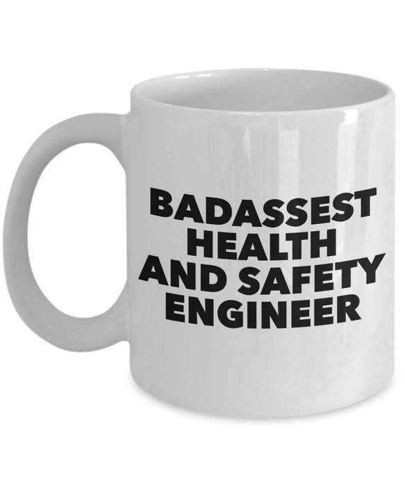 Badassest Health And Safety Engineer, 11oz Coffee Mug  Dad Mom Inspired Gift - Ribbon Canyon