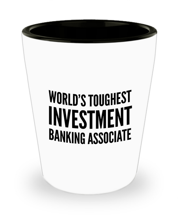 Friend Leaving Novelty Short Glass for Investment Banking Associate