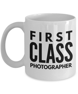 First Class Photographer - Birthday Retirement or Thank you Gift Idea -   11oz Coffee Mug - Ribbon Canyon