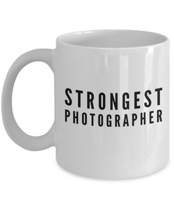 Strongest Photographer - Birthday Retirement or Thank you Gift Idea -   11oz Coffee Mug - Ribbon Canyon