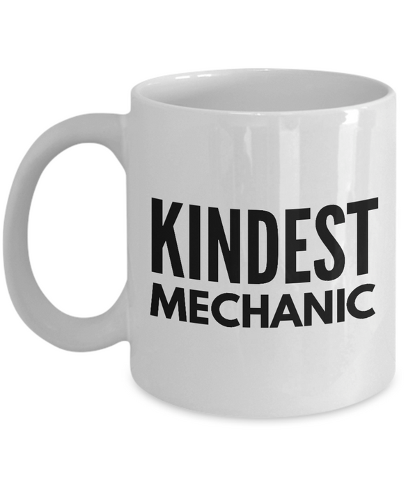 Kindest Mechanic - Birthday Retirement or Thank you Gift Idea -   11oz Coffee Mug - Ribbon Canyon