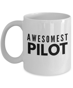 Awesomest Pilot - Birthday Retirement or Thank you Gift Idea -   11oz Coffee Mug - Ribbon Canyon
