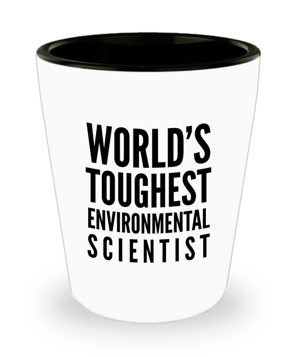 Friend Leaving Novelty Short Glass for Environmental Scientist