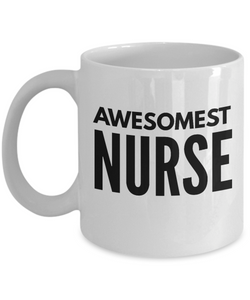 Awesomest Nurse - Birthday Retirement or Thank you Gift Idea -   11oz Coffee Mug - Ribbon Canyon