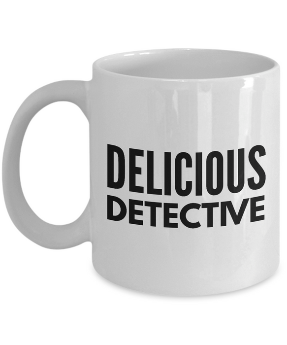 Delicious Detective - Birthday Retirement or Thank you Gift Idea -   11oz Coffee Mug - Ribbon Canyon