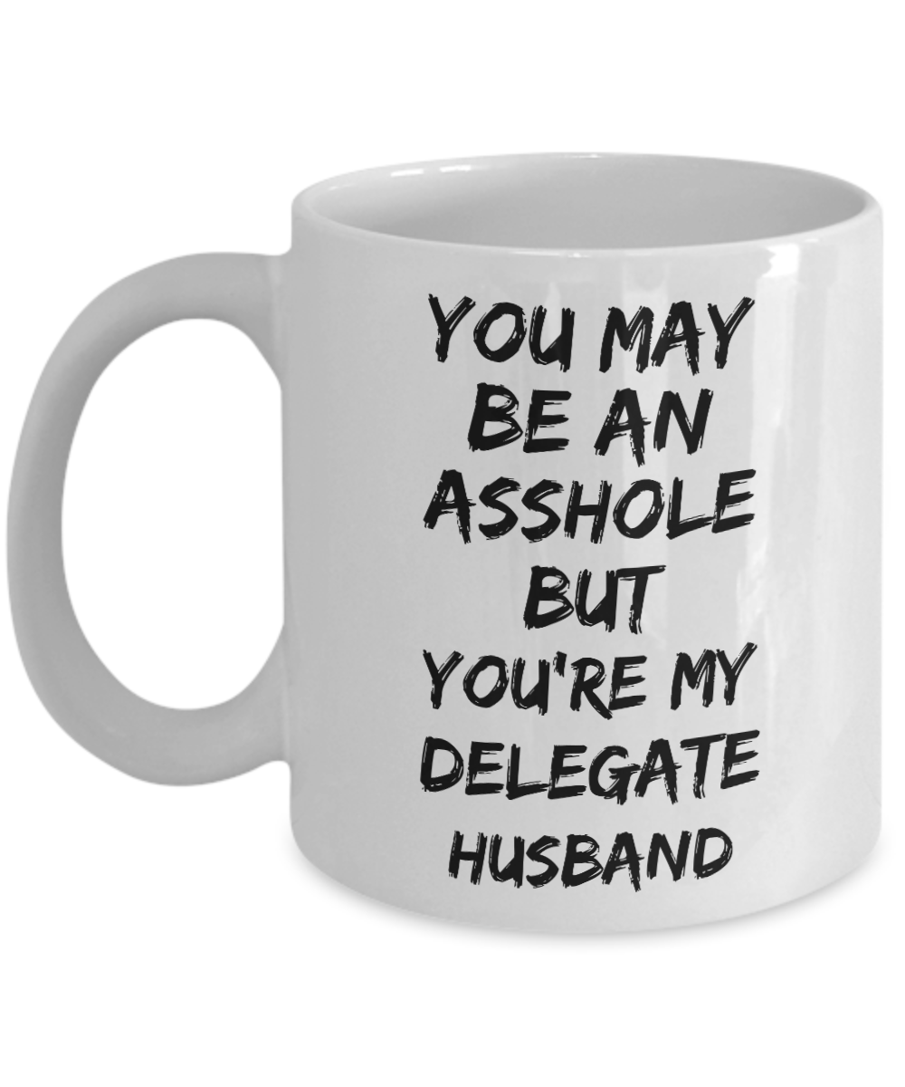 You May Be An Asshole But You'Re My Delegate Husband, 11oz Coffee Mug Best Inspirational Gifts - Ribbon Canyon