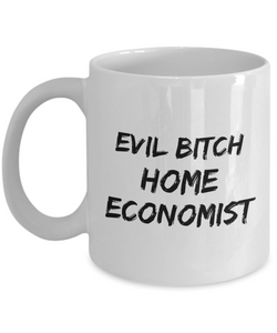 Funny Mug Evil Bitch Home Economist 11Oz Coffee Mug Funny Christmas Gift for Dad, Grandpa, Husband From Son, Daughter, Wife for Coffee & Tea Lovers Birthday Gift Ceramic - Ribbon Canyon