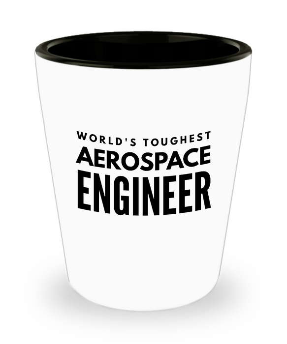 Friend Leaving Novelty Short Glass for Aerospace Engineer