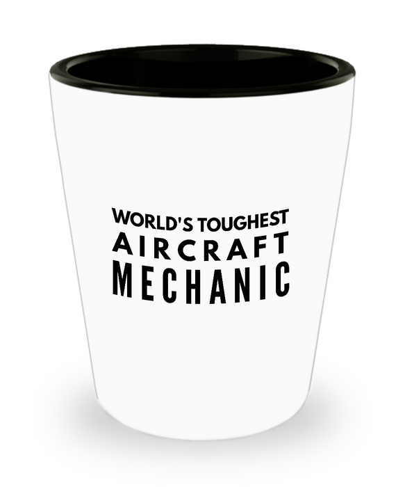 Friend Leaving Novelty Short Glass for Aircraft Mechanic