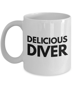 Delicious Diver - Birthday Retirement or Thank you Gift Idea -   11oz Coffee Mug - Ribbon Canyon