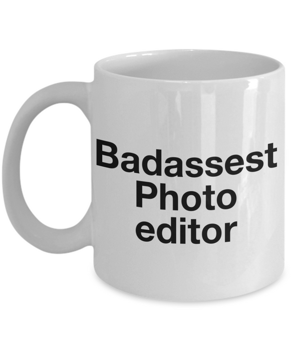Badassest Photo Editor Gag Gift for Coworker Boss Retirement or Birthday - Ribbon Canyon