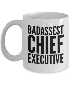 Badassest Chief Executive Gag Gift for Coworker Boss Retirement or Birthday - Ribbon Canyon