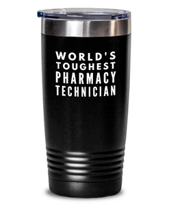 Pharmacy Technician - Novelty Gift White Print 20oz. Stainless Tumblers - Ribbon Canyon