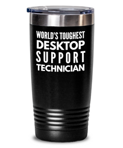 Desktop Support Technician - Novelty Gift White Print 20oz. Stainless Tumblers - Ribbon Canyon