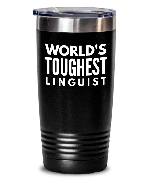 Linguist - Novelty Gift White Print 20oz. Stainless Tumblers - Ribbon Canyon