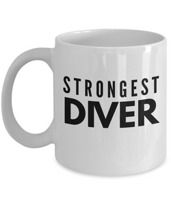 Strongest Diver - Birthday Retirement or Thank you Gift Idea -   11oz Coffee Mug - Ribbon Canyon