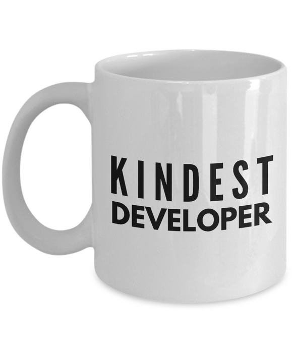 Kindest Developer - Birthday Retirement or Thank you Gift Idea -   11oz Coffee Mug - Ribbon Canyon