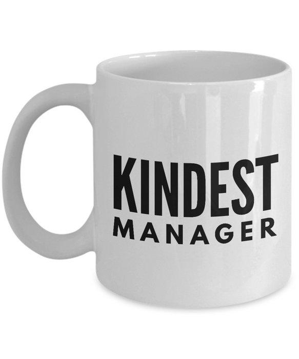 Kindest Manager - Birthday Retirement or Thank you Gift Idea -   11oz Coffee Mug - Ribbon Canyon