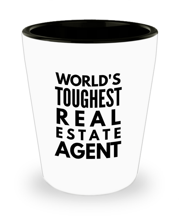 Friend Leaving Novelty Short Glass for Real Estate Agent