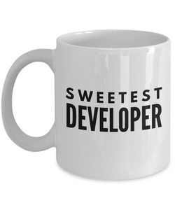Sweetest Developer - Birthday Retirement or Thank you Gift Idea -   11oz Coffee Mug - Ribbon Canyon