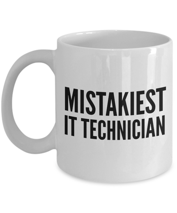 Mistakiest It Technician Gag Gift for Coworker Boss Retirement or Birthday - Ribbon Canyon