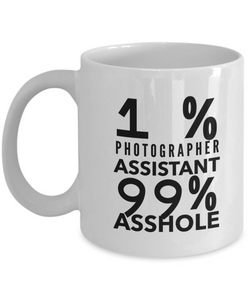 1% Photographer Assistant 99% Asshole Gag Gift for Coworker Boss Retirement or Birthday - Ribbon Canyon