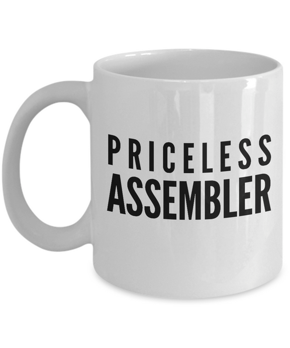 Priceless Assembler - Birthday Retirement or Thank you Gift Idea -   11oz Coffee Mug - Ribbon Canyon