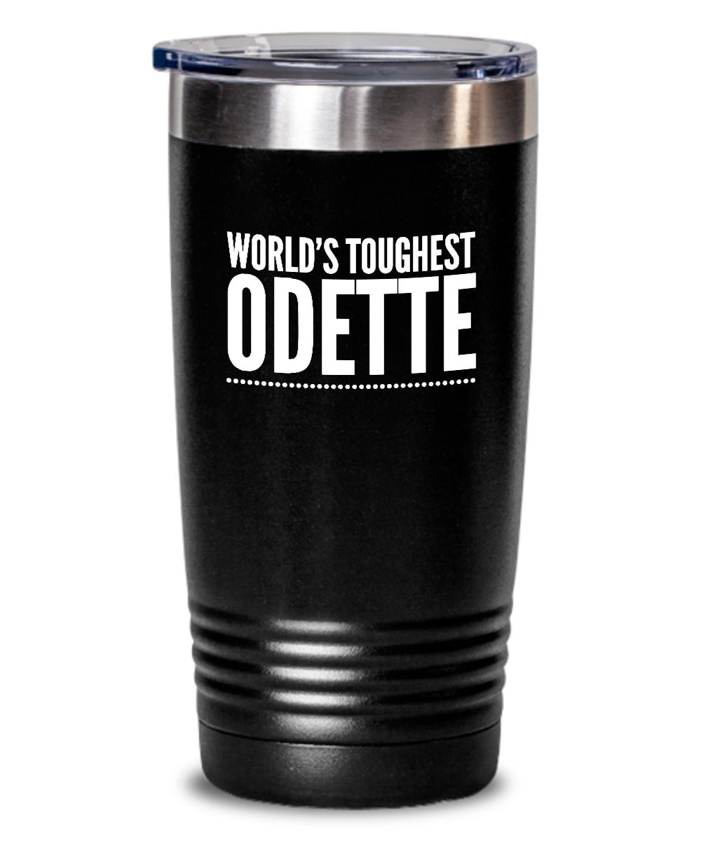 #GB Tumbler White NAME 3778 World's Toughest ODETTE