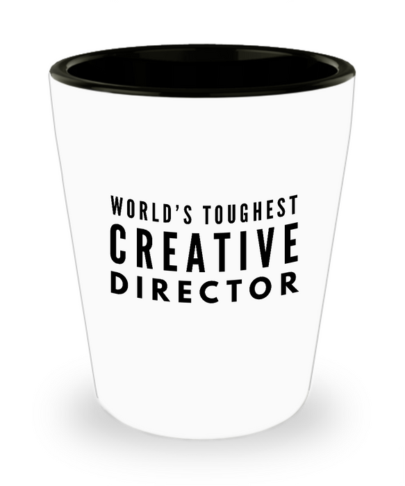 Friend Leaving Novelty Short Glass for Creative Director