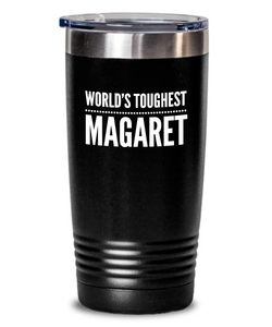 #GB Tumbler White NAME 3170 World's Toughest MAGARET