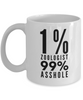 1% Zoologist 99% Asshole, 11oz Coffee Mug Best Inspirational Gifts - Ribbon Canyon