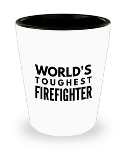 Friend Leaving Novelty Short Glass for Firefighter