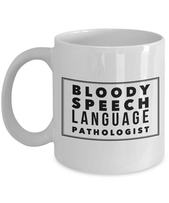 Bloody Speech Language Pathologist Gag Gift for Coworker Boss Retirement or Birthday - Ribbon Canyon