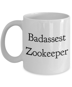 Funny Mug Badassest Zookeeper   11oz Coffee Mug Gag Gift for Coworker Boss Retirement - Ribbon Canyon