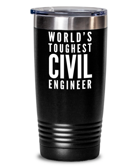 Civil Engineer - Novelty Gift White Print 20oz. Stainless Tumblers - Ribbon Canyon