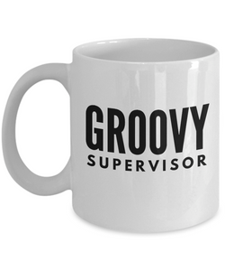 Groovy Supervisor - Birthday Retirement or Thank you Gift Idea -   11oz Coffee Mug - Ribbon Canyon