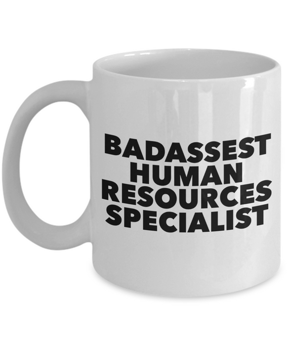Badassest Human Resources Specialist, 11oz Coffee Mug Gag Gift for Coworker Boss Retirement or Birthday - Ribbon Canyon