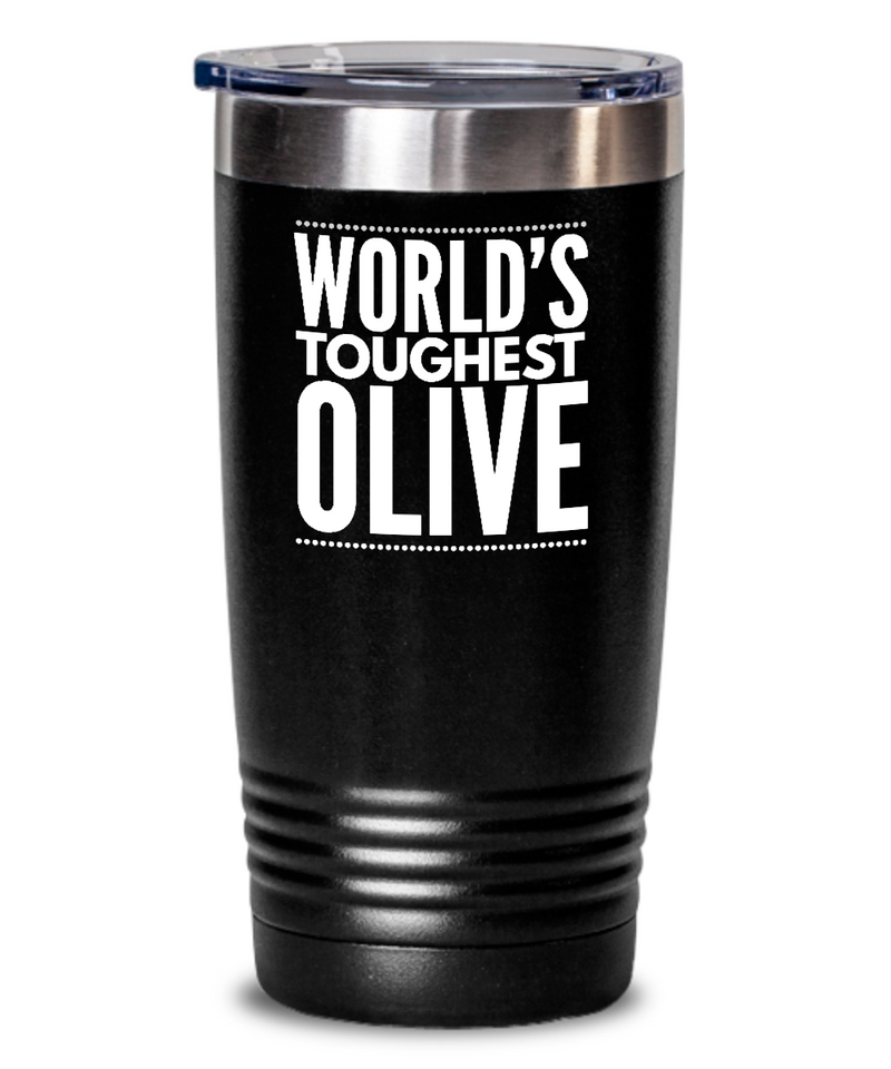 #GB Tumbler White NAME 3793 World's Toughest OLIVE