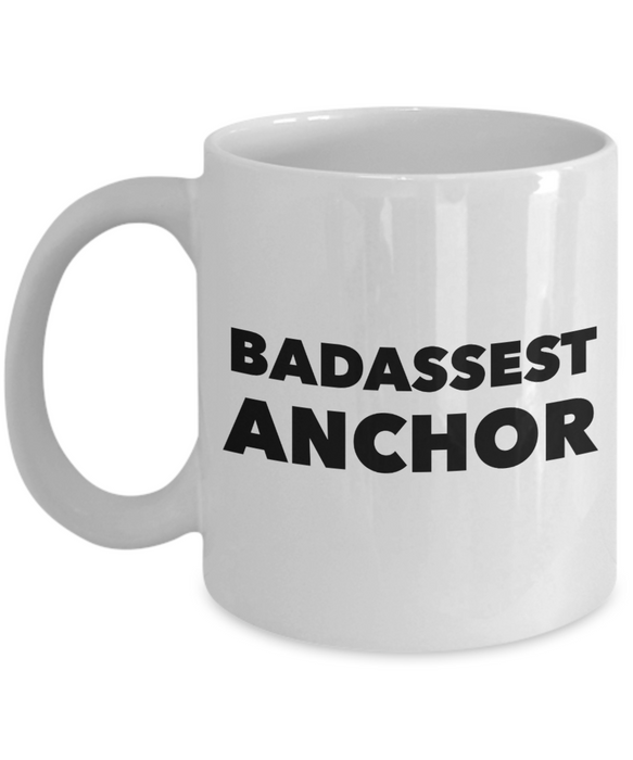 Funny Mug Badassest Anchor   11oz Coffee Mug Gag Gift for Coworker Boss Retirement - Ribbon Canyon