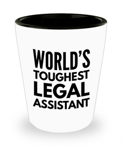 Friend Leaving Novelty Short Glass for Legal Assistant