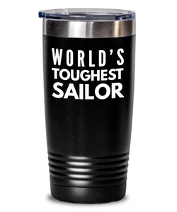 Sailor - Novelty Gift White Print 20oz. Stainless Tumblers - Ribbon Canyon